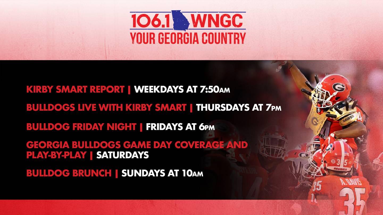 HOW TO LISTEN: Georgia Bulldogs on 106.1 WNGC Your Georgia Country